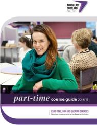 Part-time course guide 2014/15 - Part-time, day and evening courses