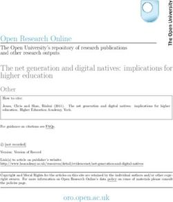 Open Research Online The Open University's repository of research publications and other research outputs