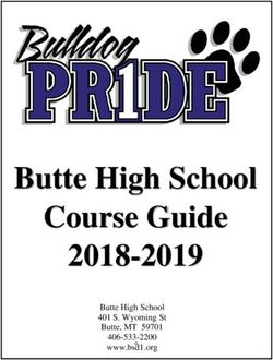 2018-2019 Butte High School Course Guide