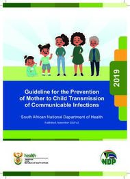 Guideline for the Prevention of Mother to Child Transmission of Communicable ...