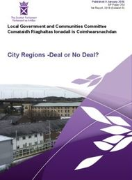 City Regions -Deal or No Deal? Local Government and Communities Committee Comataidh Riaghaltas Ionadail is Coimhearsnachdan