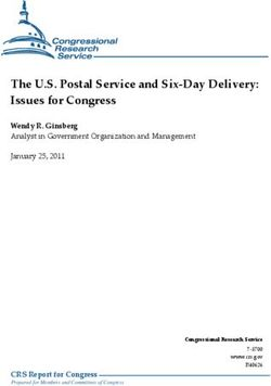 The U.S. Postal Service and Six-Day Delivery: Issues for Congress