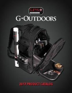 G-Outdoors - 2017 Product Catalog