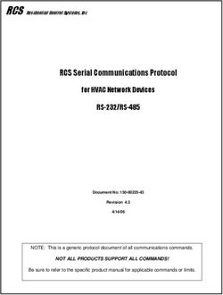 RCS Serial Communications Protocol