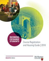 Course Registration and Housing Guide 2018
