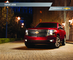 Chevrolet Tahoe 2016 Catalog
