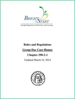 Rules and Regulations Group Day Care Homes Chapter 290-2-1