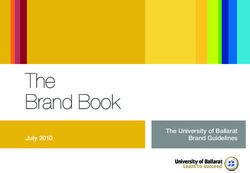 The Brand Book The University of Ballarat Brand Guidelines