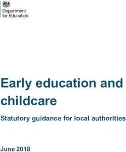 Early education and childcare - Statutory guidance for local authorities