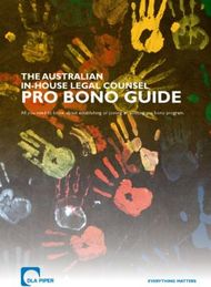 PRO BONO GUIDE THE AUSTRALIAN IN-HOUSE LEGAL COUNSEL