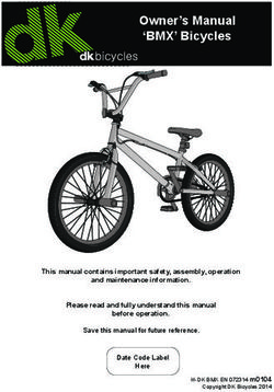 Owner's Manual 'BMX' Bicycles