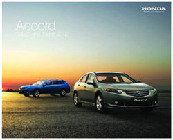 Honda Accord - Saloon and Tourer 2010