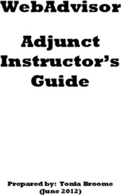 WebAdvisor Adjunct Instructor's Guide
