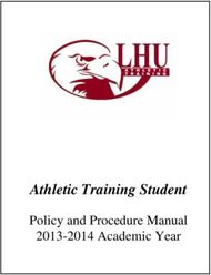 Athletic Training Student - Policy and Procedure Manual