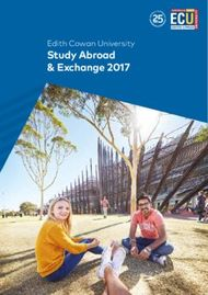 Study Abroad & Exchange 2017 - Edith Cowan University