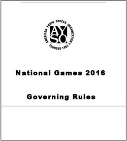 National Games 2016 Governing Rules