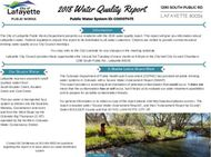 2018 Water Quality Report LAFAYETTE 80026