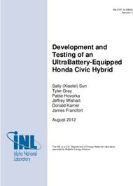 Development and Testing of an UltraBattery-Equipped Honda Civic Hybrid