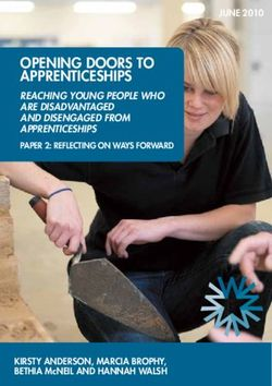 Opening DOORS tO AppRenticeShipS Reaching young people who aRe disadvantaged and disengaged fRom appRenticeships pApeR 2: Reflecting On wAyS fORwARD
