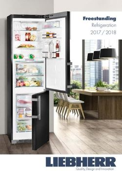 Freestanding - 2017 / 2018 Refrigeration