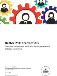 Better 21C Credentials - Evaluating the promise, perils and disruptive potential of digital credentials