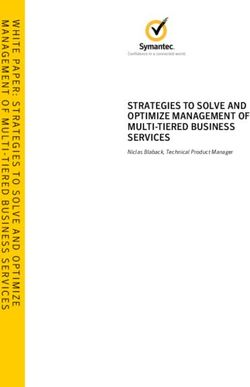 STRATEGIES TO SOLVE AND OPTIMIZE MANAGEMENT OF MULTI-TIERED BUSINESS SERVICES