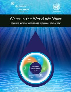 Water in the World We Want Catalysing national Water-related sustainable development