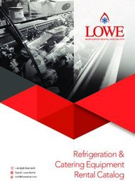 Refrigeration & Catering Equipment Rental Catalog