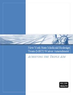 New York State Medicaid Redesign Team (MRT) Waiver Amendment