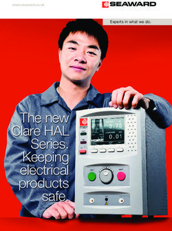 The new Clare HAL Series. Keeping electrical products safe.