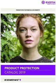 PRODUCT PROTECTION - CATALOG 2019