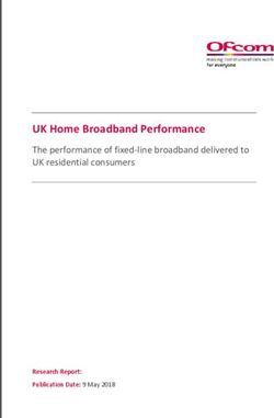 UK Home Broadband Performance - The performance of fixed-line broadband delivered to UK residential consumers
