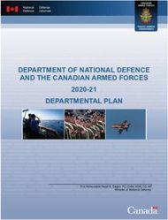 DEPARTMENT OF NATIONAL DEFENCE AND THE CANADIAN ARMED FORCES