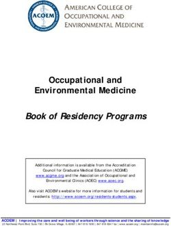 Occupational and Environmental Medicine Book of Residency Programs