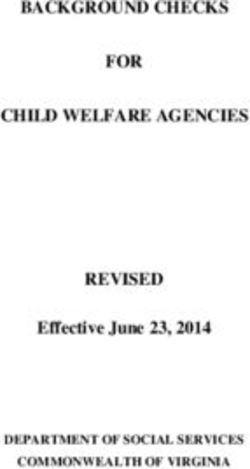 BACKGROUND CHECKS FOR CHILD WELFARE AGENCIES REVISED