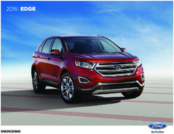 Ford Edge 2016 Specifications