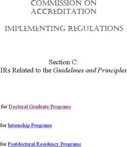 Section C: IRs Related to the Guidelines and Principles