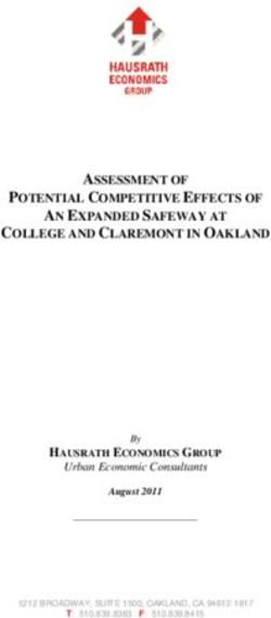 ASSESSMENT OF POTENTIAL COMPETITIVE EFFECTS OF AN EXPANDED SAFEWAY AT COLLEGE AND CLAREMONT IN OAKLAND