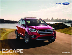 Ford Escape 2017 Specifications