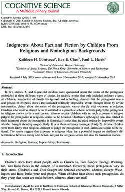 Judgments About Fact and Fiction by Children From Religious and Nonreligious Backgrounds