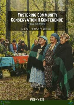 Fostering Community Conservation II Conference PRESS KIT