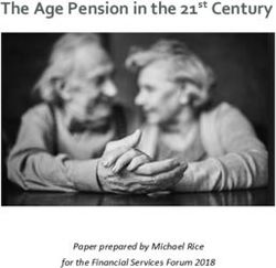 The Age Pension in the 21st Century