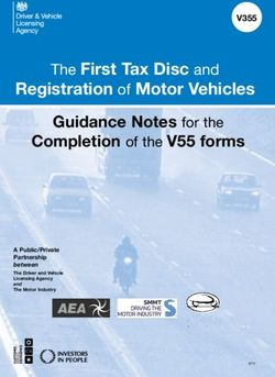 Registration of Motor Vehicles - The First Tax Disc