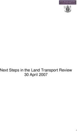 Next Steps in the Land Transport Review 30 April 2007