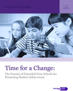 Time for a Change: The Promise of Extended-Time Schools for Promoting Student Achievement