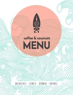 Ceintuur Theater Coffee and Coconuts Menu.
