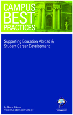Supporting Education Abroad & Student Career Development