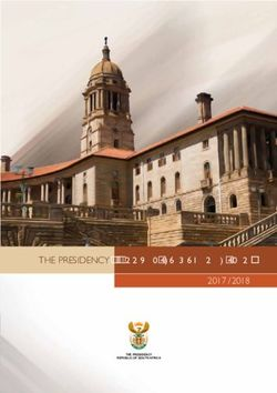 2017 / 2018 THE PRESIDENCY ANNUAL PERFORMANCE PLAN