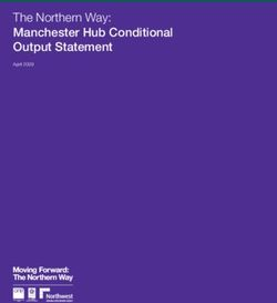 The Northern Way: Manchester Hub Conditional Output Statement