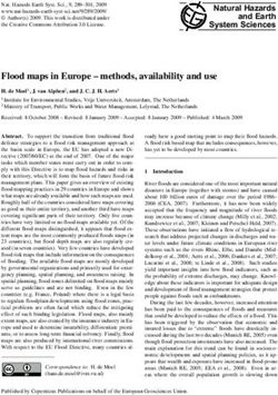 Flood maps in Europe - methods, availability and use